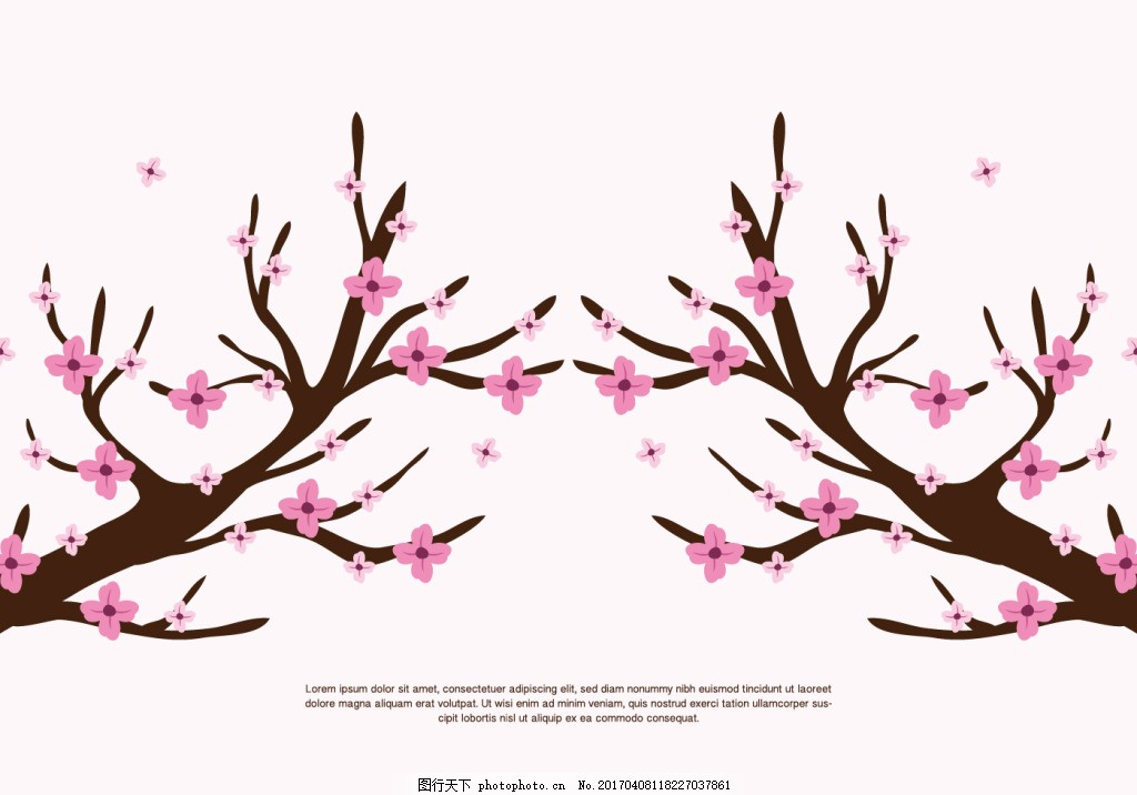 唯美手绘桃花樱花