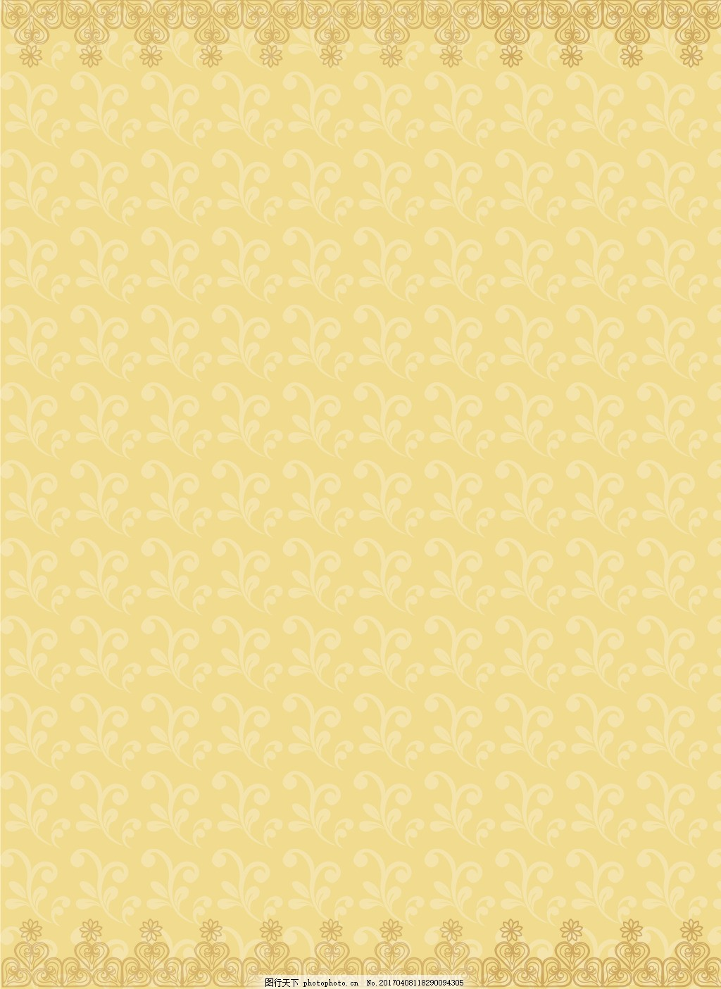 金色欧式花纹背景