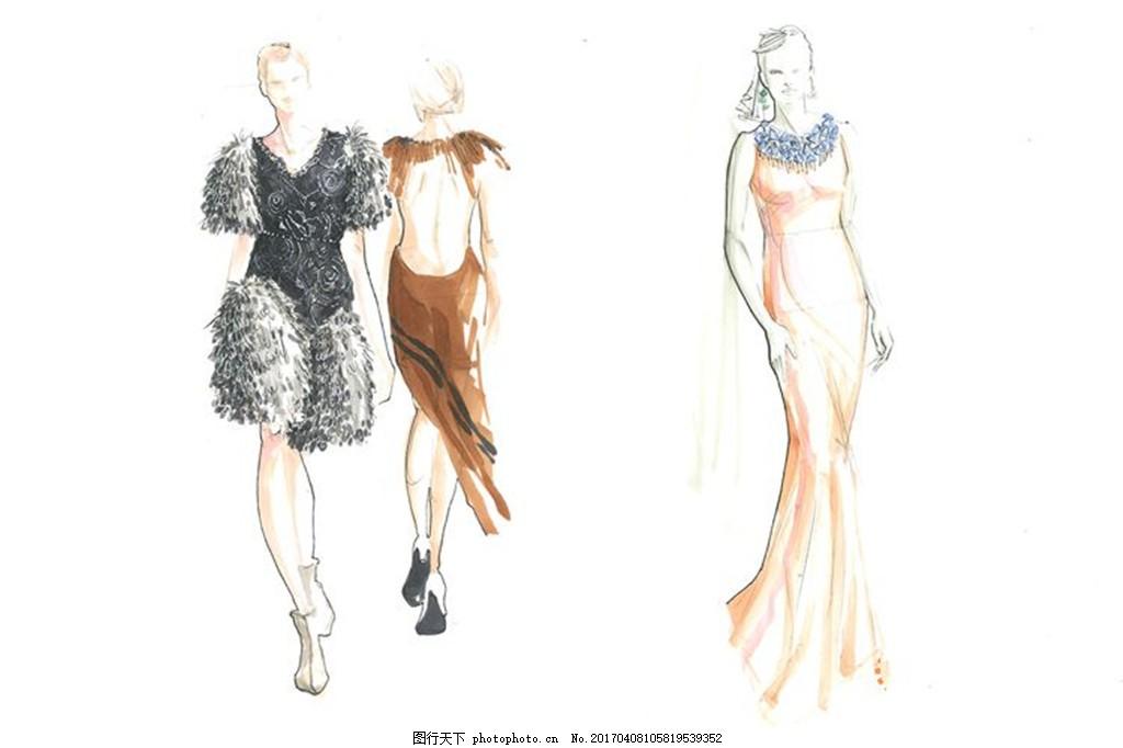短裙 服装图片免费下载 女装设计 服装效果图 连衣裙 长裙 服装手绘图