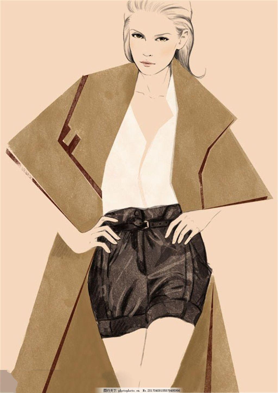 时尚女装设计图 职业女装 职业装 女装设计效果图 短裙 服装图片免费