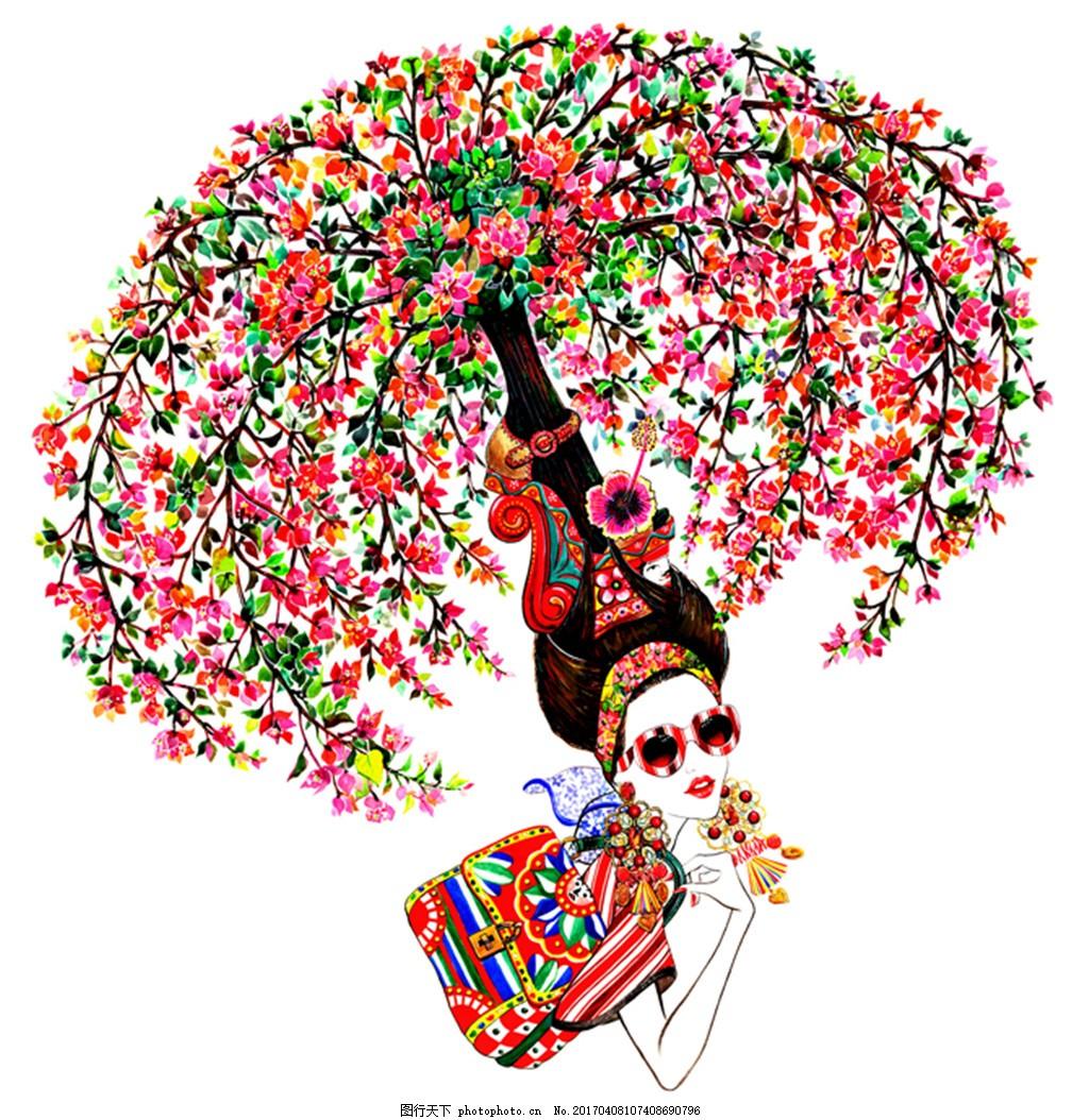 喷水式花朵帽子设计图