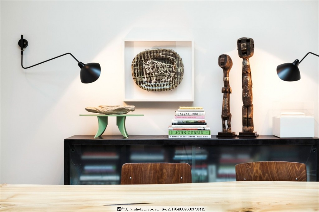 美式创意书桌设计图图片