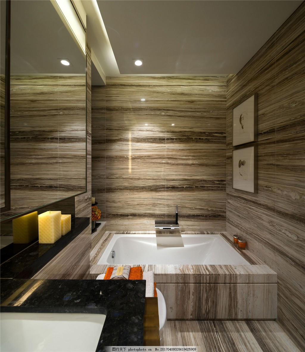 简约室内洗手台设计图