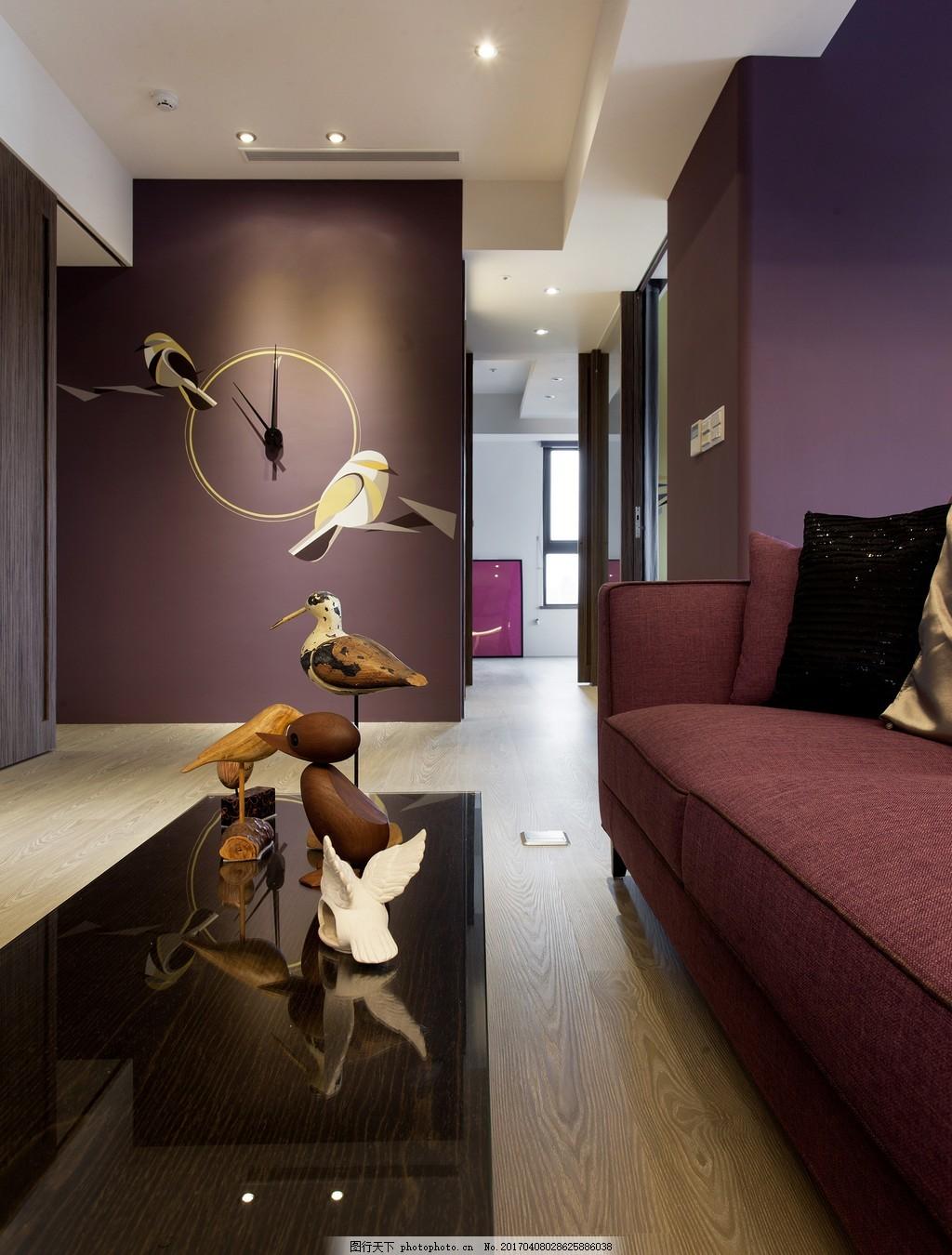 港式时尚客厅茶几背景墙设计图图片