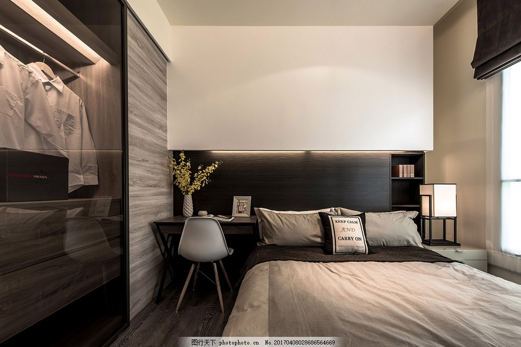 现代港式家居主卧装修效果图 室内设计 家装效果图 港式装修效果图