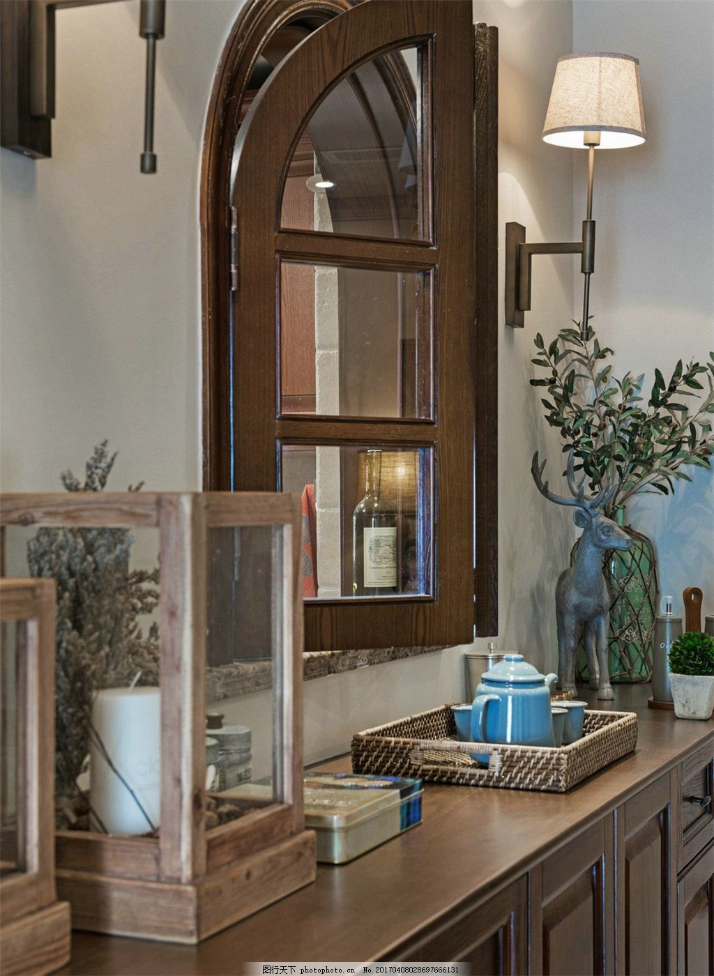 美式复古餐厅窗户设计图 家居 家居生活 室内设计 装修 家具 装修设计图片