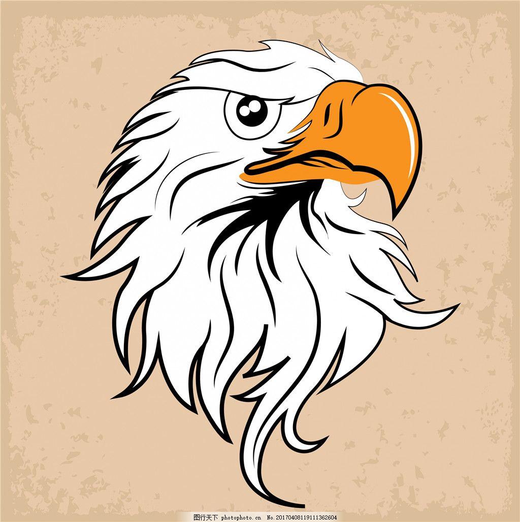 手绘动物鹰头