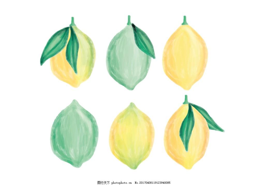 手绘柠檬素材
