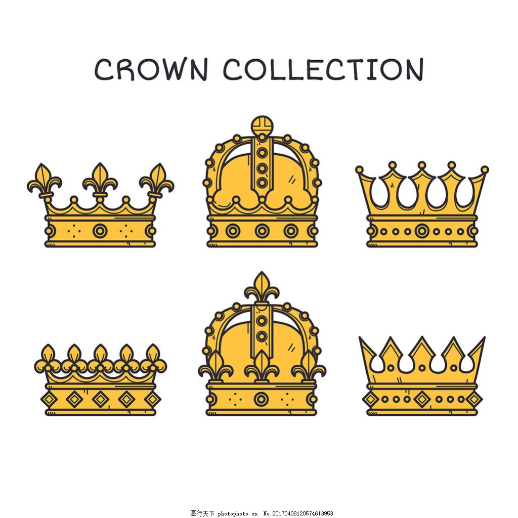 各种手绘豪华皇冠图标