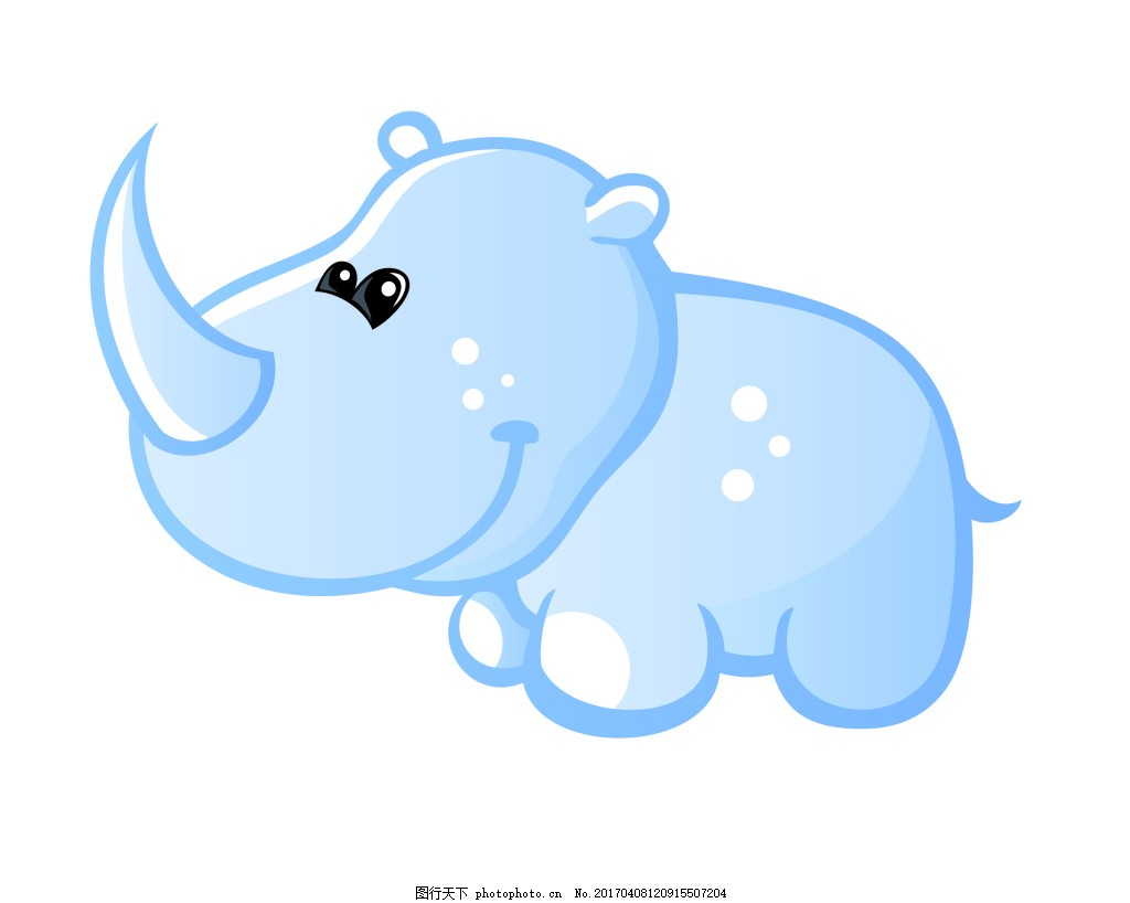 矢量犀牛eps 可爱q版动物模板下载 可爱q版动物图片下载 卡通 动物