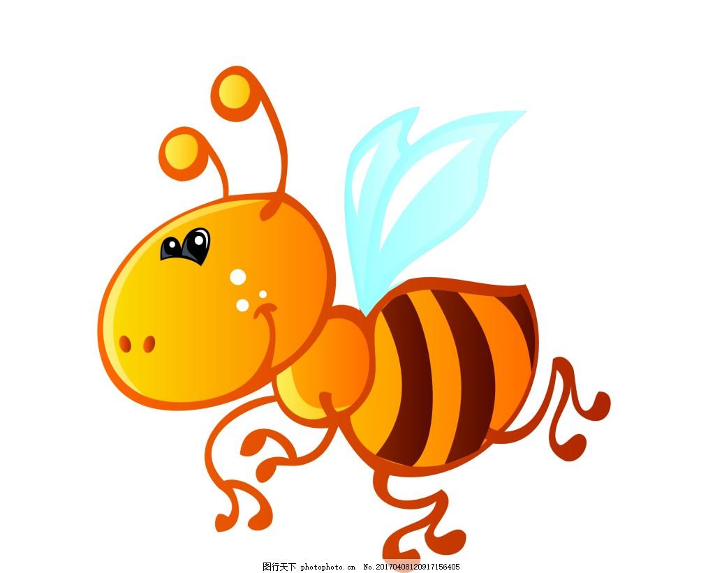 矢量小黄蜂eps 可爱q版动物模板下载 可爱q版动物图片下载 卡通 动物