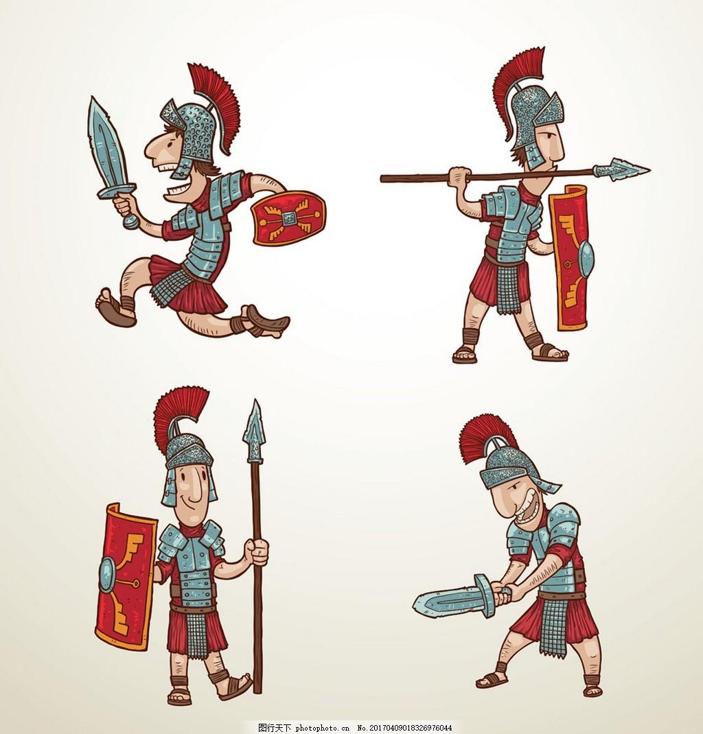 古代盾牌士兵图片