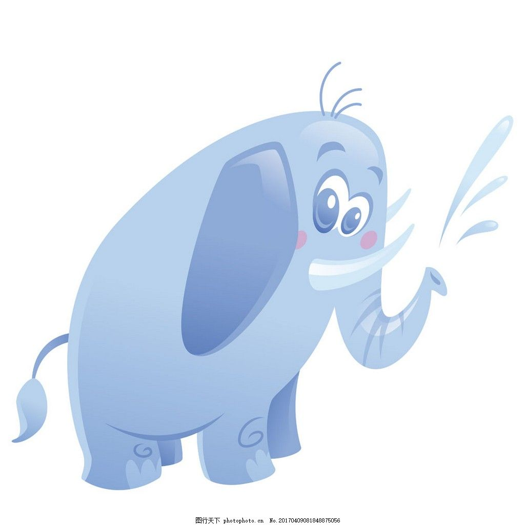 喷水大象图片图片
