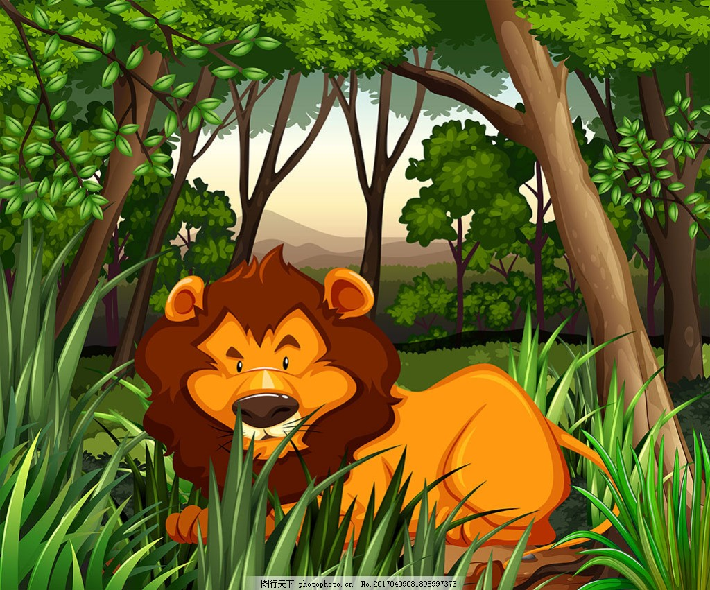 生活在黑暗森林中的狮子插图