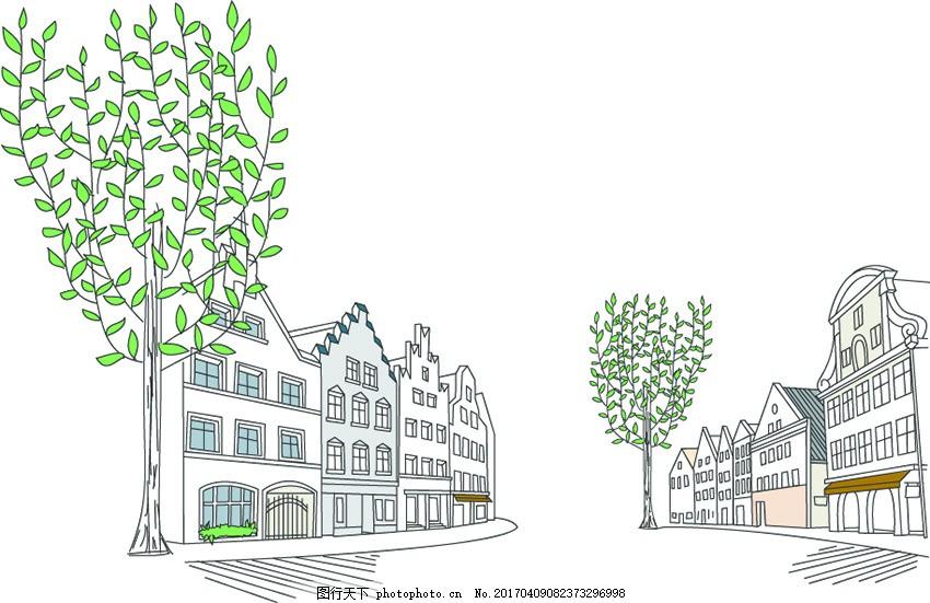 树木平面图画法手绘