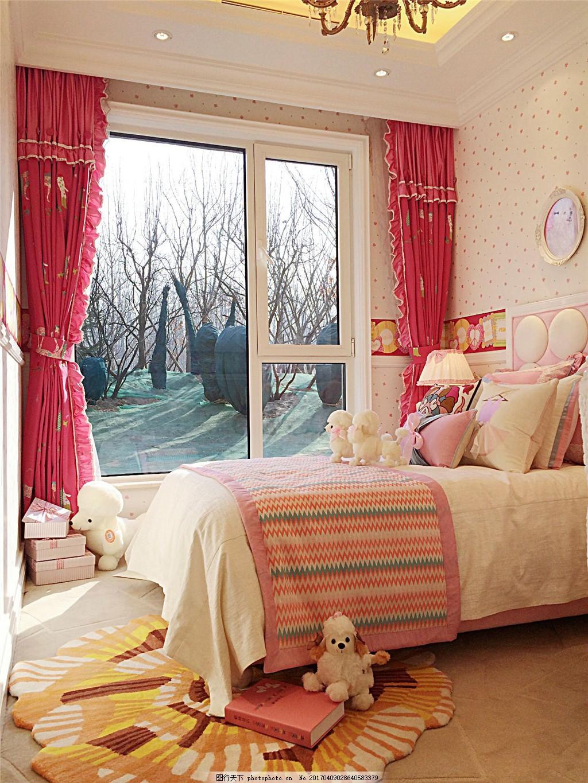 现代温馨公主房装修效果图 室内设计 家装效果图 美式装修效果图图片