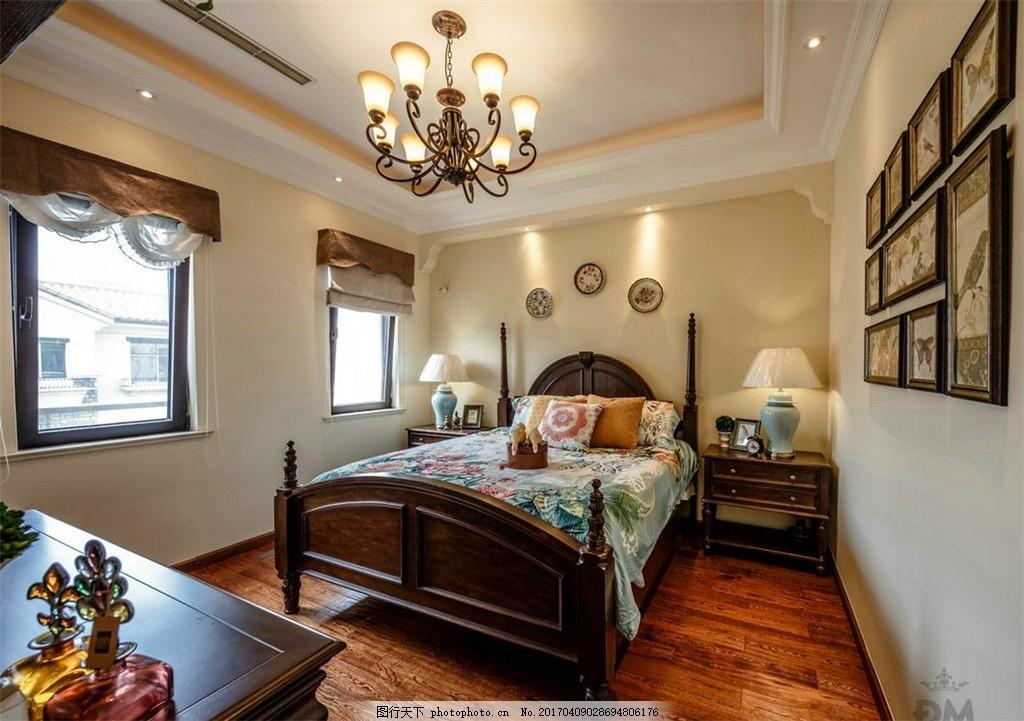 美式豪华卧室设计图 家居 家居生活 室内设计 装修 家具 装修设计图片