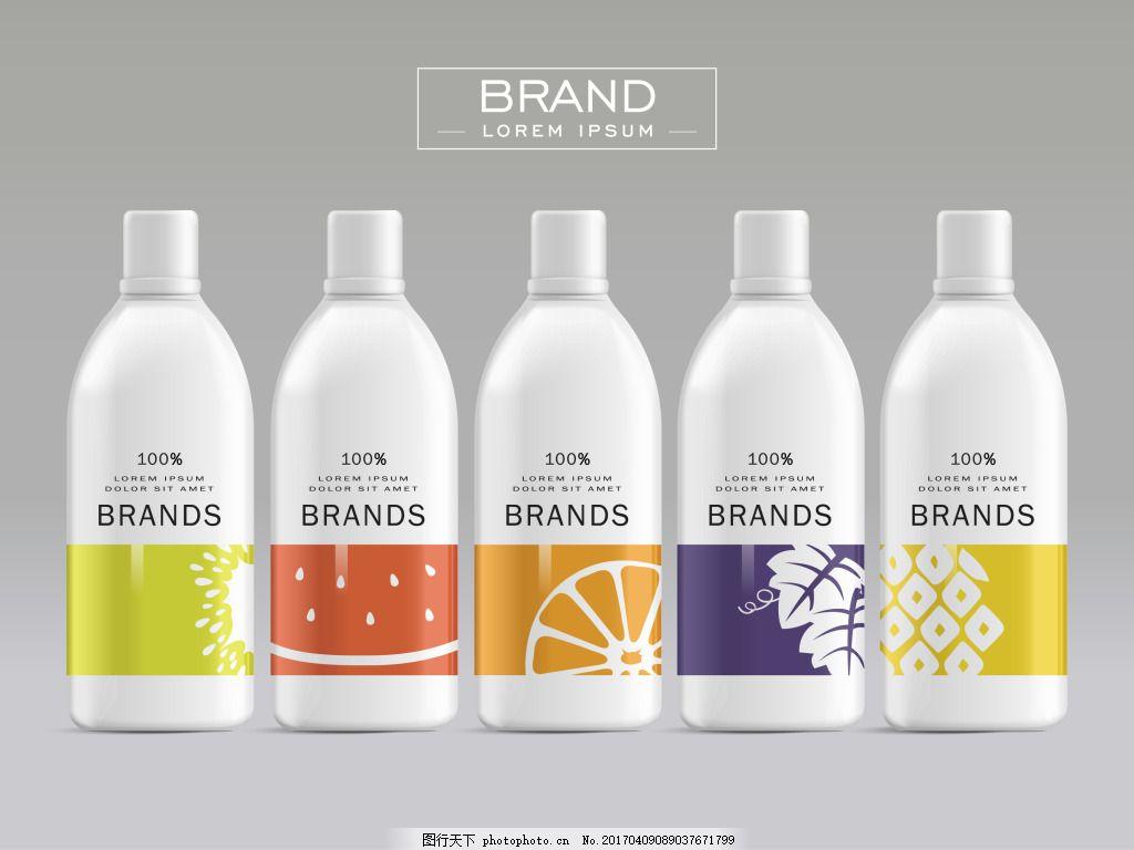 沐浴露包装瓶 清新 水果 沐浴露 日用品 包装 瓶子