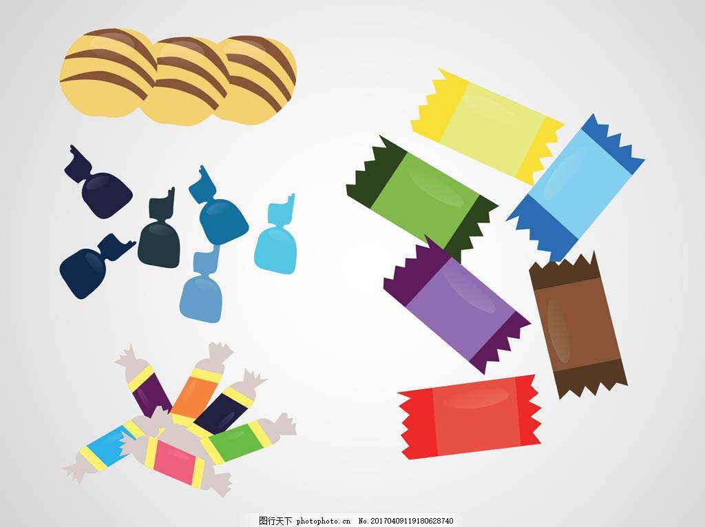 糖果矢量素材 手绘糖果 手绘食物 手绘美食 甜品 手绘甜点