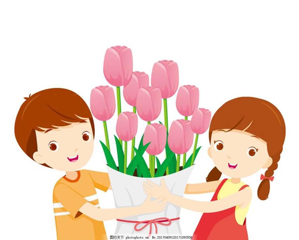 人物卡通 母亲节 母亲 温馨 爱 感恩母亲节 感恩 人物 文案 我爱妈妈