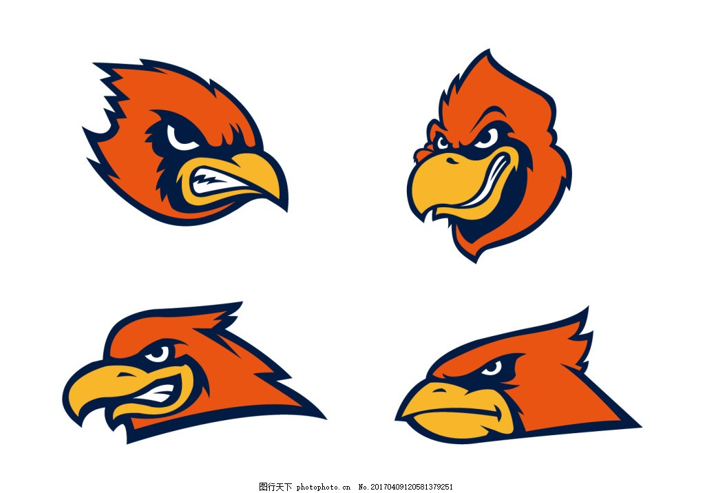 动物素材 动物 手绘动物 矢量素材 扁平动物 矢量动物 鹰头 鹰头图标