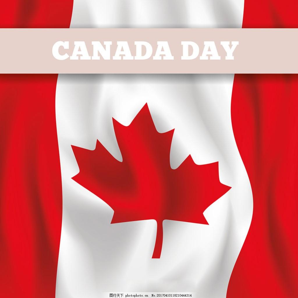 写实风格加拿大国旗背景图片