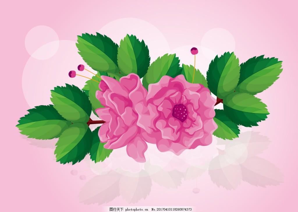 唯美梦幻玫瑰花 手绘花卉 手绘植物 花卉花朵 花束 花朵图案 手绘玫瑰
