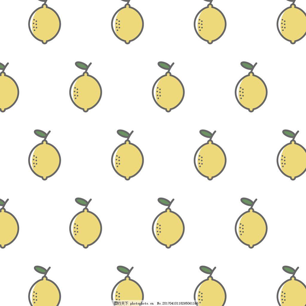 手绘柠檬装饰图案背景