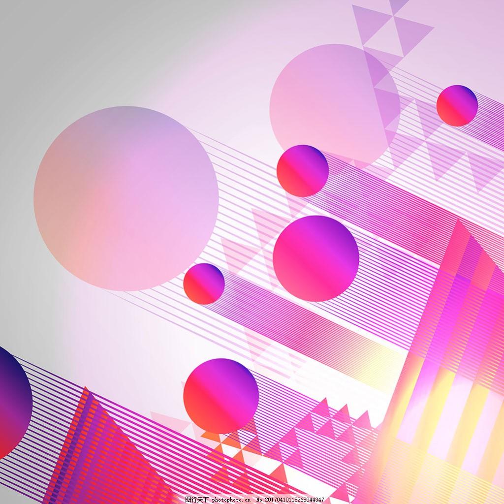 彩色圆形三角形抽象背景 彩色 圆形 三角形 抽象背景
