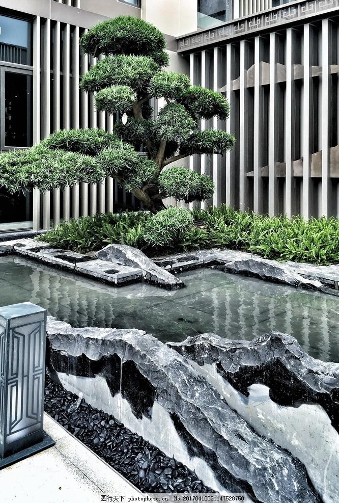 中式景观假山石 环境设计 河岸 河谷 河滩 素材 设计景观设计 150dpi图片