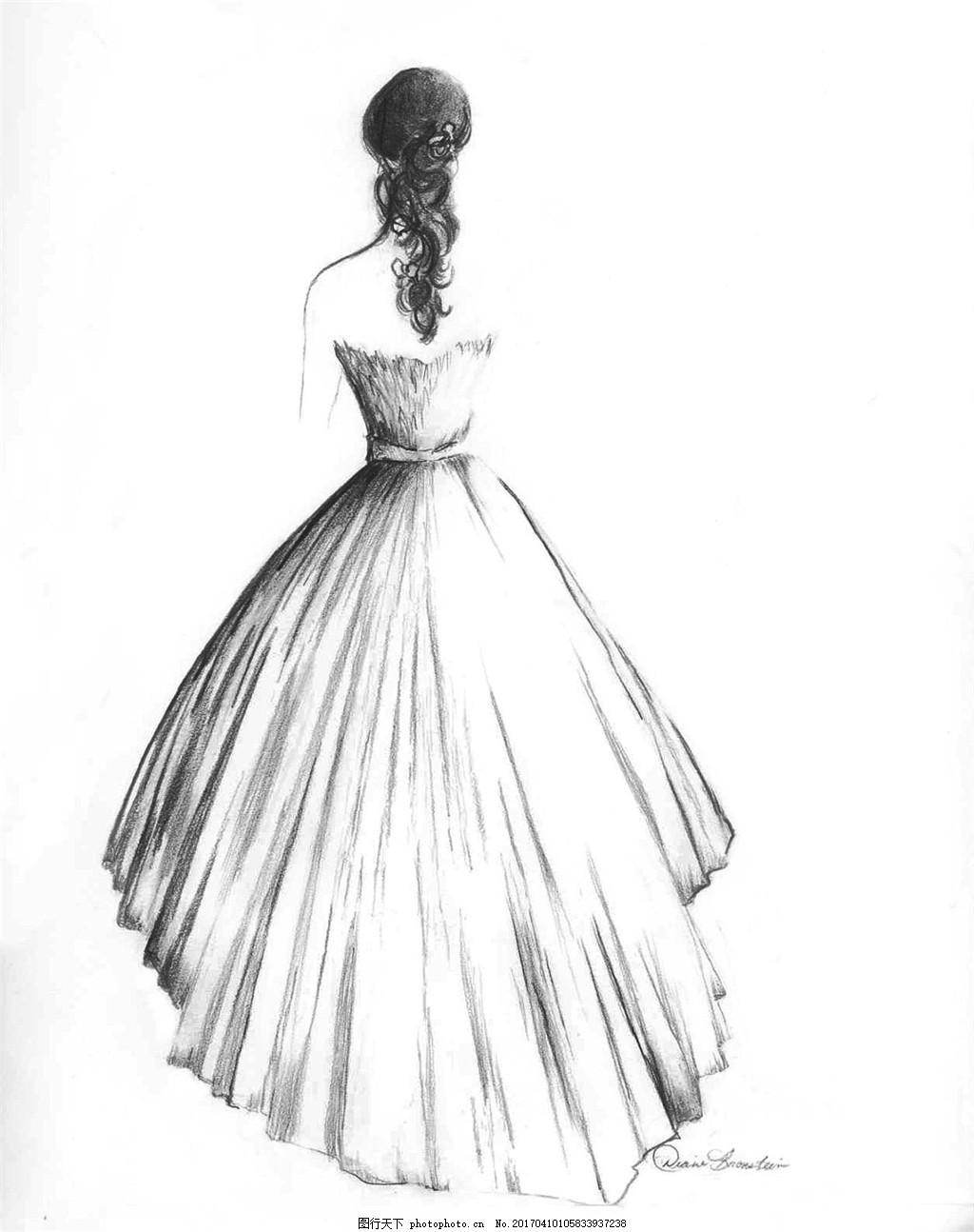 长裙婚纱礼服设计图