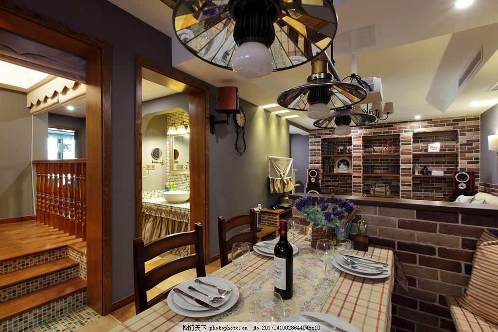 美式创意餐厅设计图图片