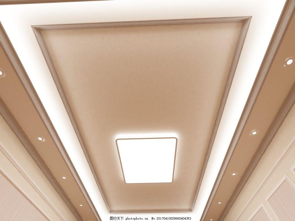 客厅二级半吊顶 竹木纤维集成墙板 室内设计顶部