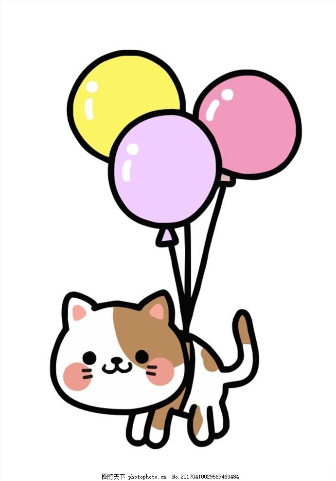 卡通猫 日本猫 可爱 猫咪 卡通形象 白猫 韩国卡通 卡通漫画