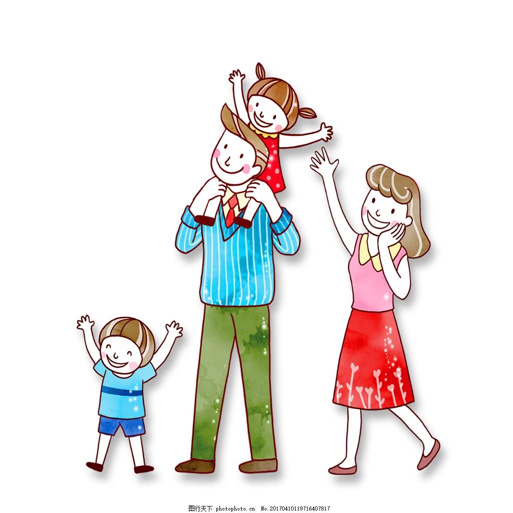 【手绘头像】幸福四口、五口之家全家福_腾讯网
