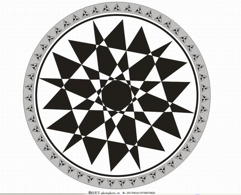 欧式图案 地板 三角形 圆形
