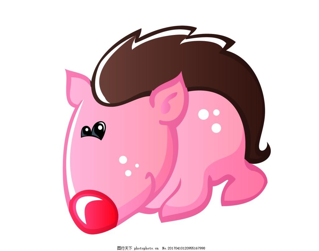 矢量野猪eps 可爱q版动物模板下载 可爱q版动物图片下载 卡通 动物