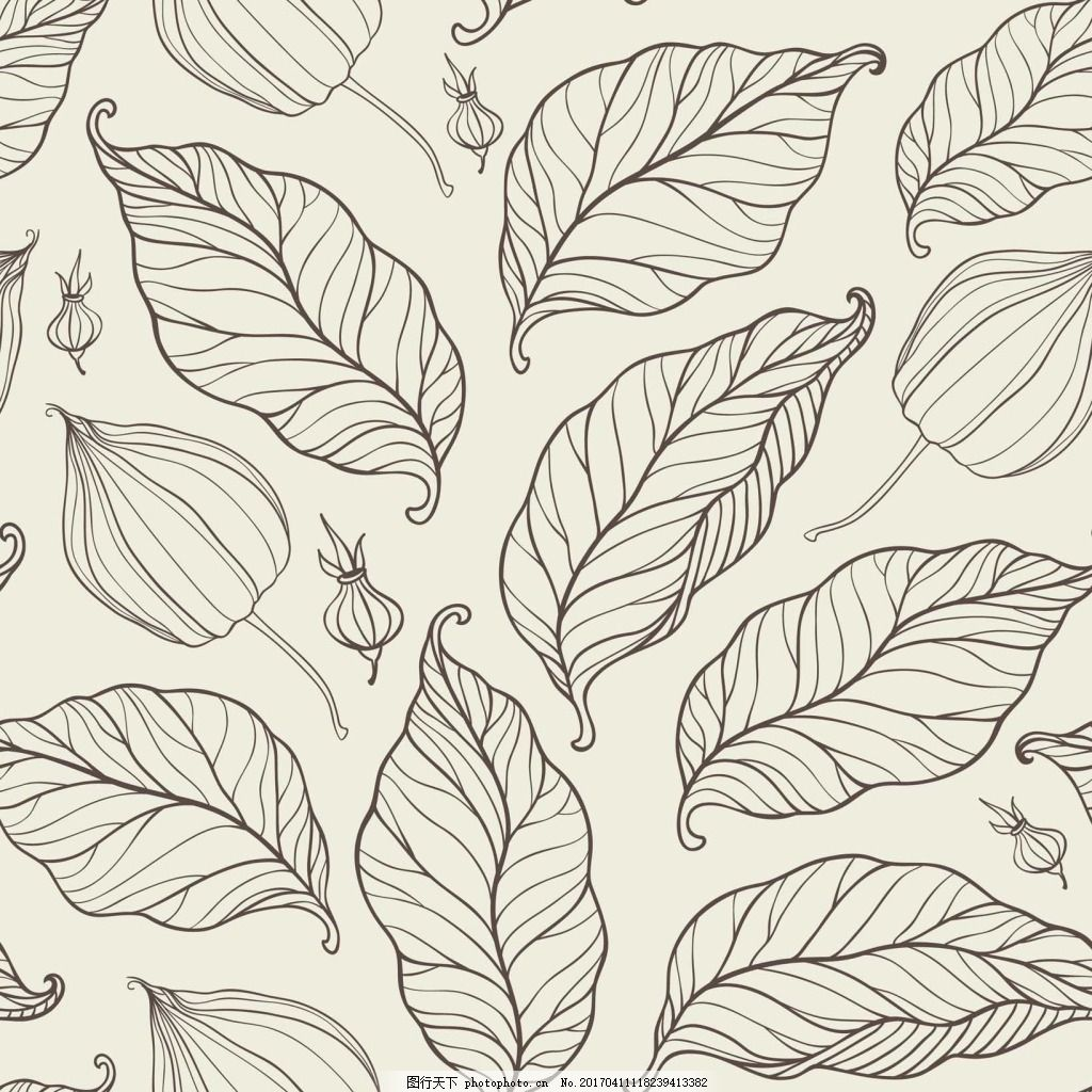 手绘叶子背景