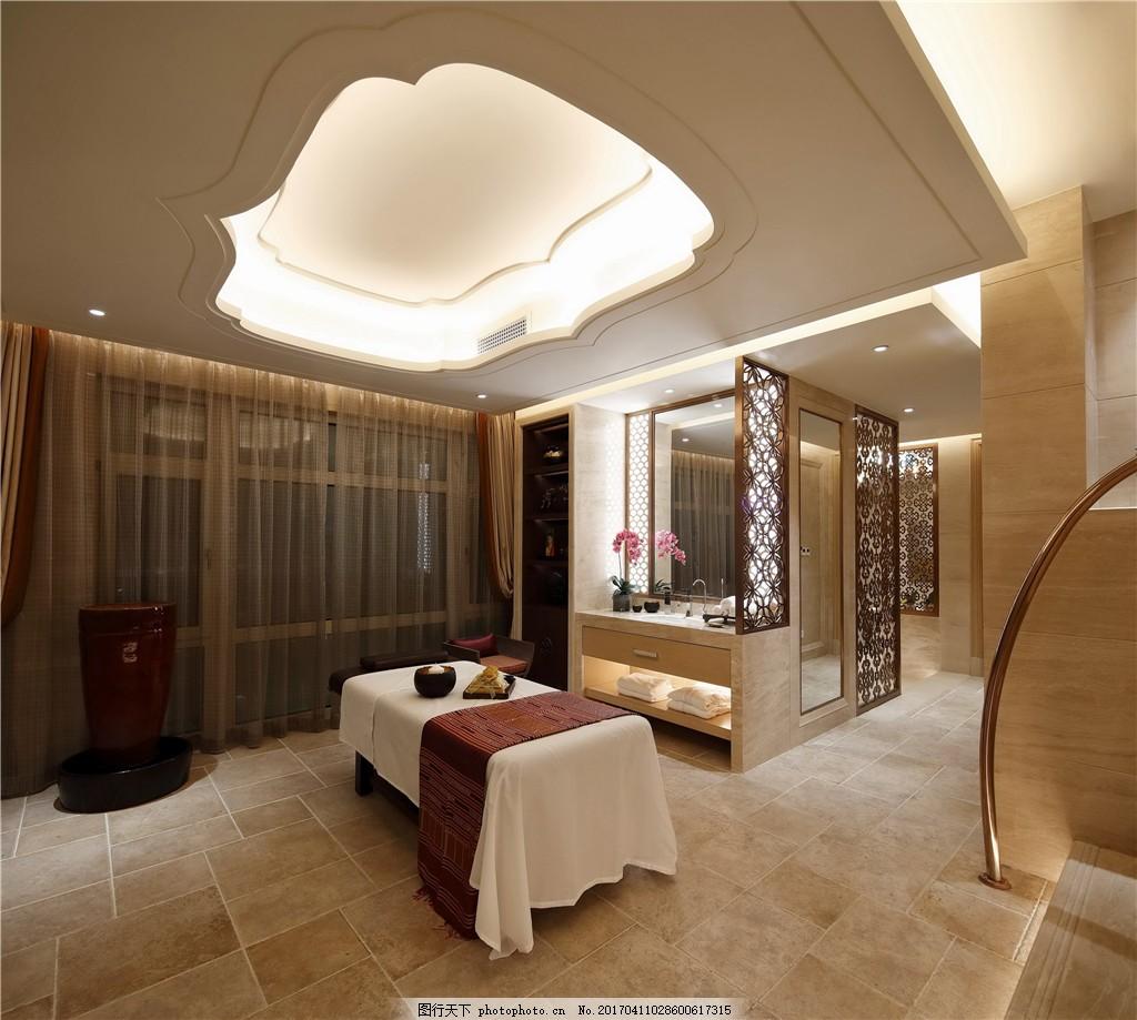 室内设计 家装效果图 创意吊灯 线条型窗帘 白布桌 古香古色 装潢设计