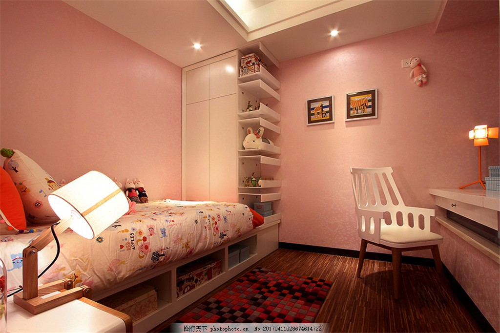 简约儿童房装修效果图 室内设计 家装效果图 欧式装修效果图 时尚