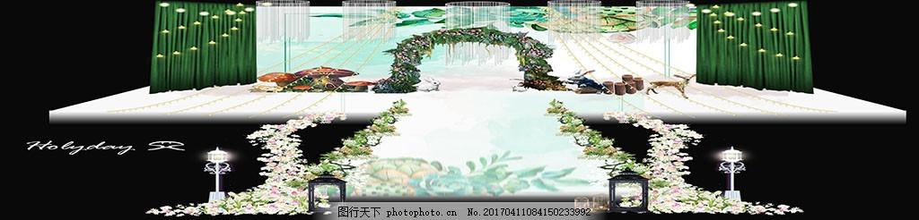 森林婚礼舞台背景