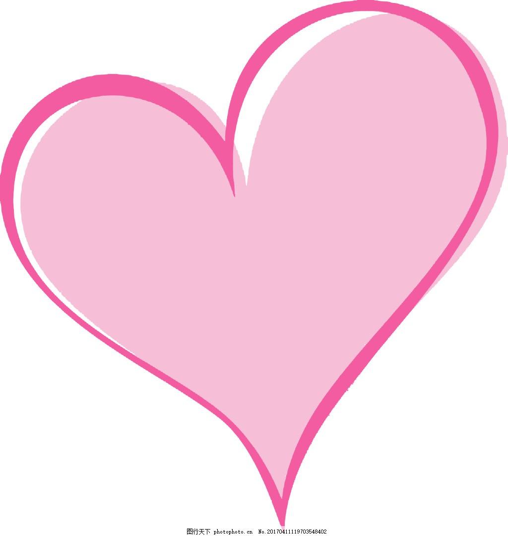 粉色桃心 心形 少女系 可爱的