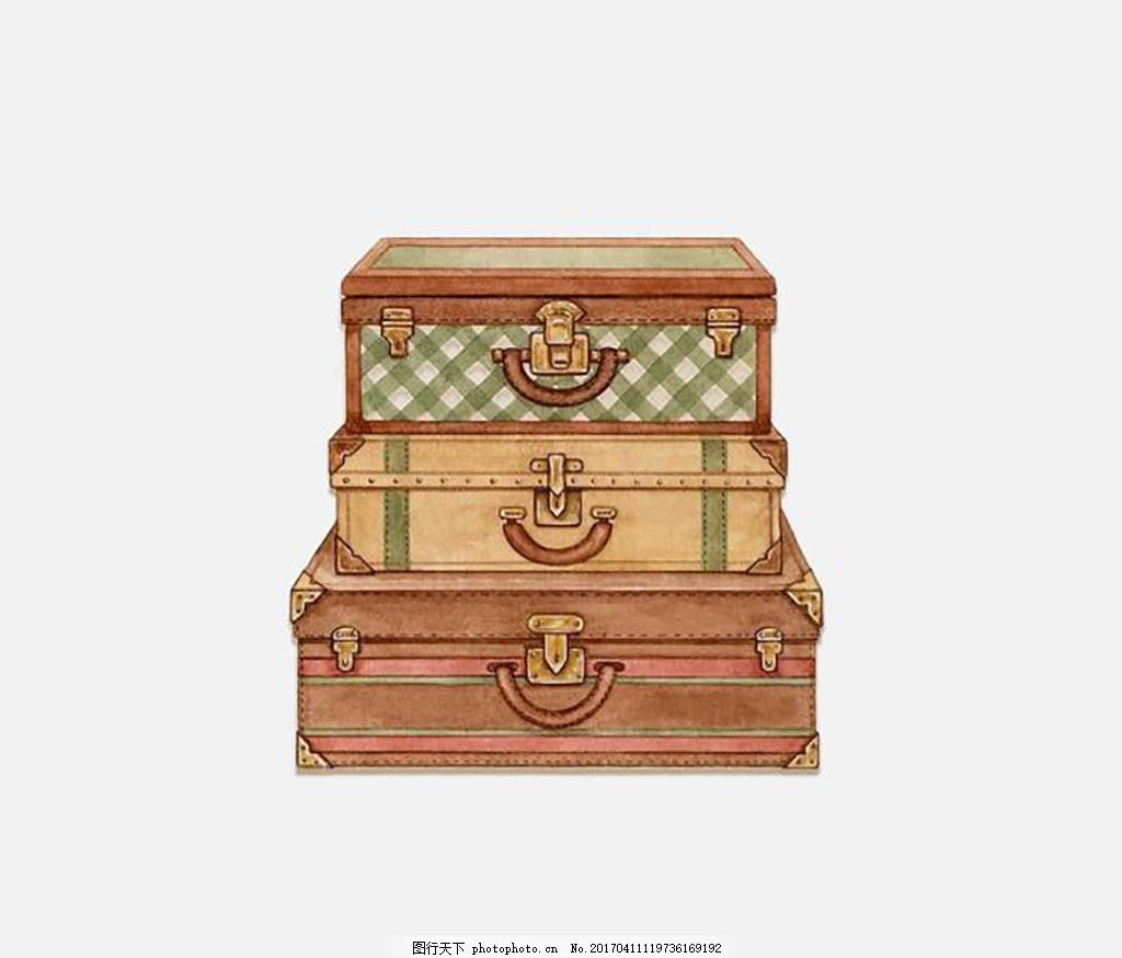 财宝宝箱设计元素 背景图案 宝箱素材 装饰 配图