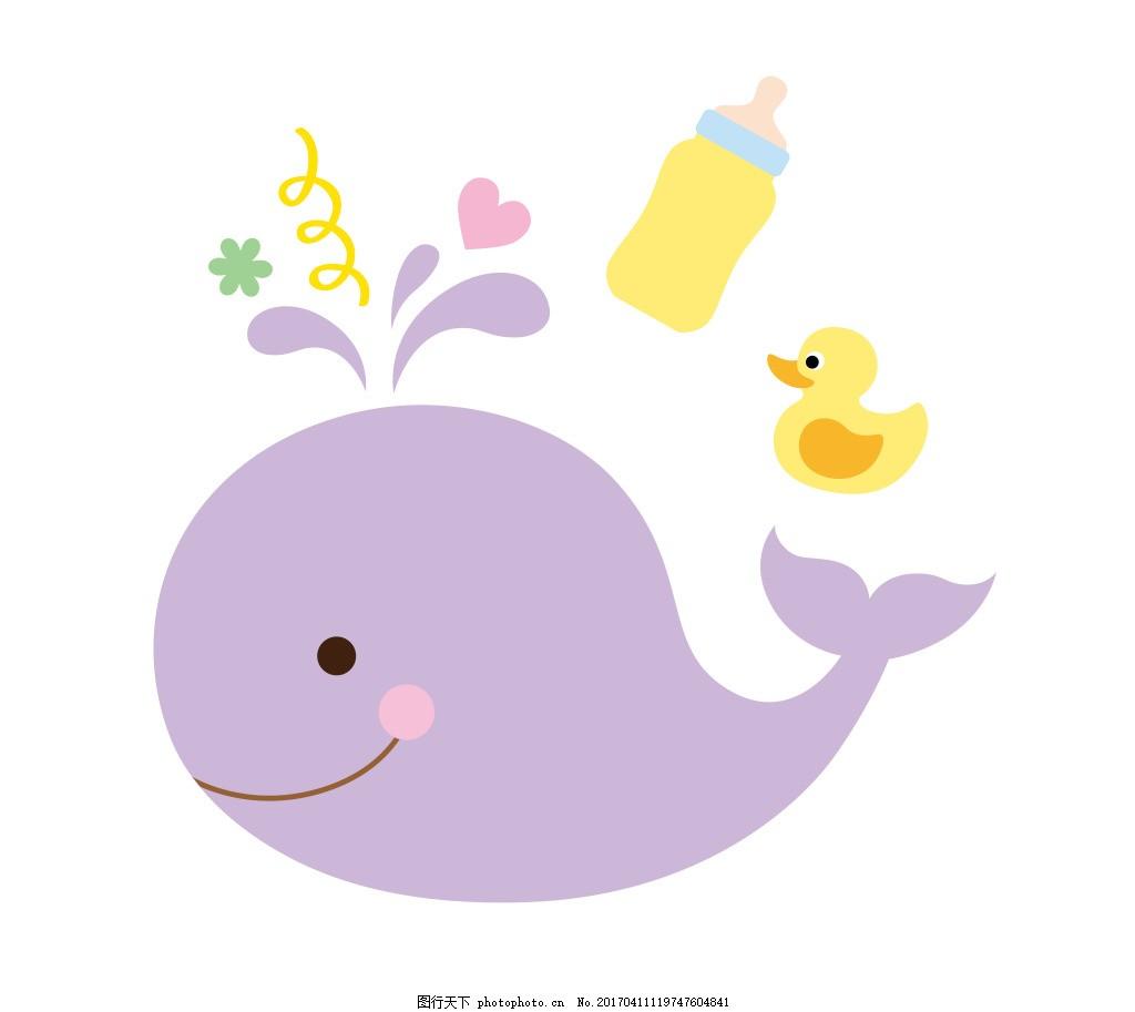 鲸鱼eps 卡通动物矢量图图片下载 可爱卡通动物图 eps 矢量素材 小