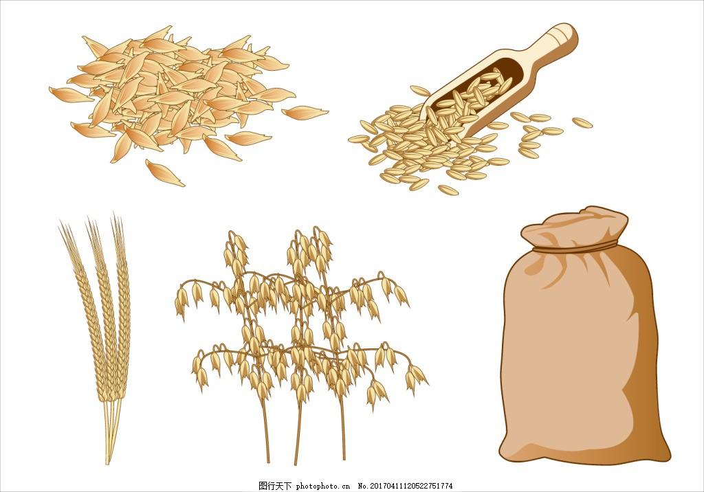 麦穗 麦穗图标 麦 麦子 矢量素材 手绘植物 手绘麦子 手绘麦穗 稻田
