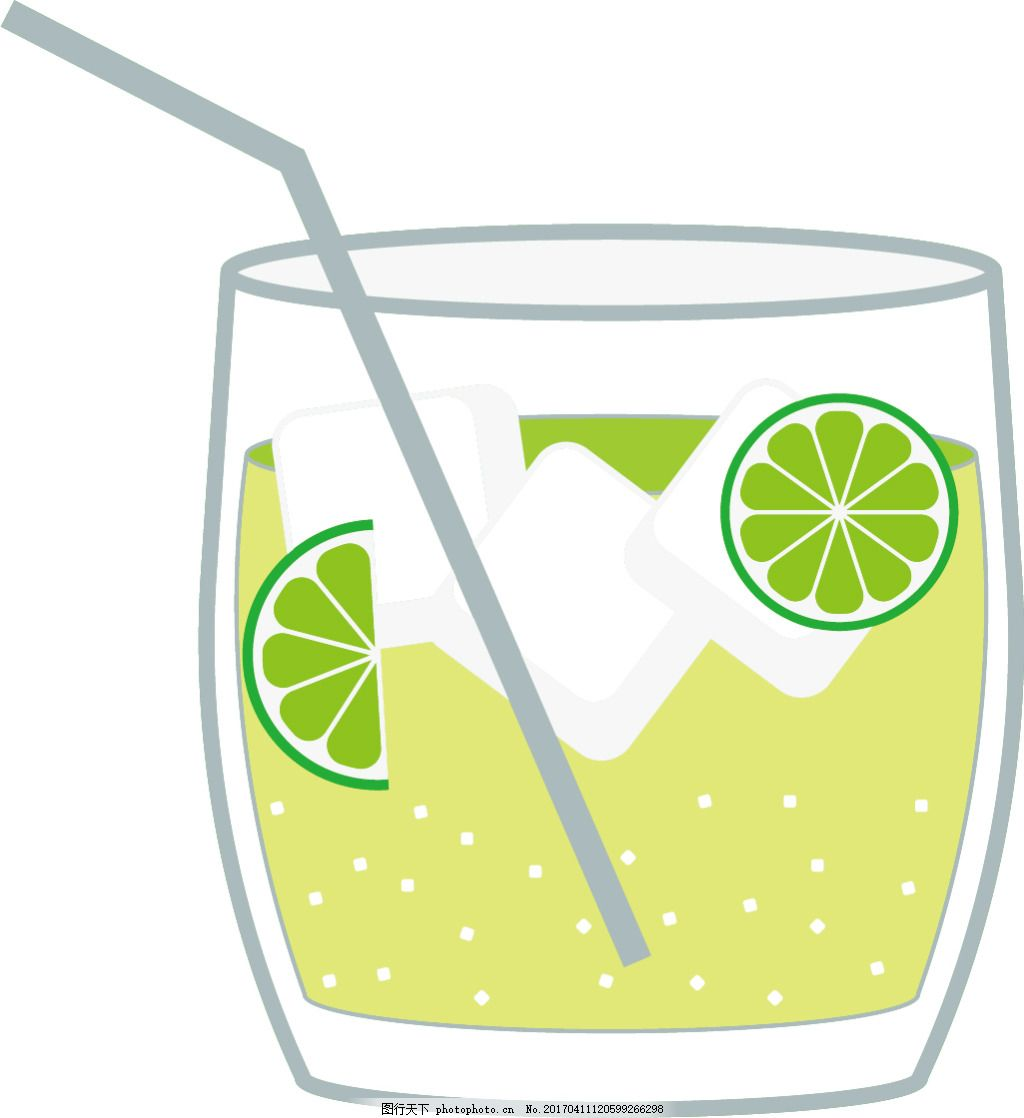 手绘饮料 饮料图标 矢量素材 杯子 高脚杯 图标设计 唯美 冷饮