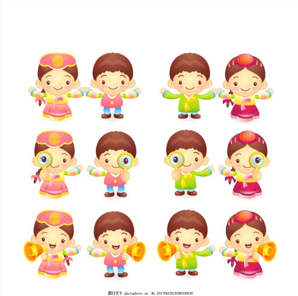 民族服的小朋友 韩国 韩国服 韩国小朋友 朝鲜 朝鲜族 女孩 男孩 少数
