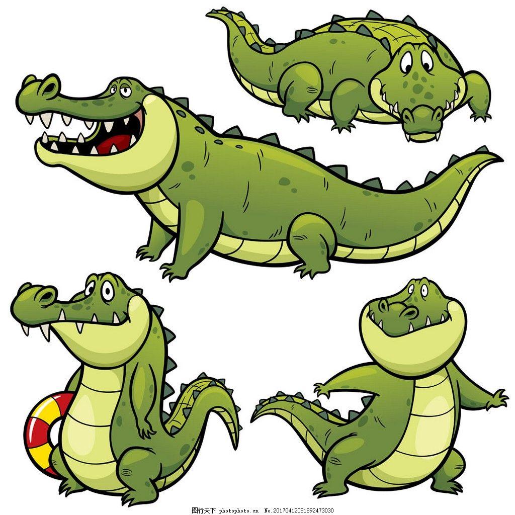 卡通鳄鱼漫画图片