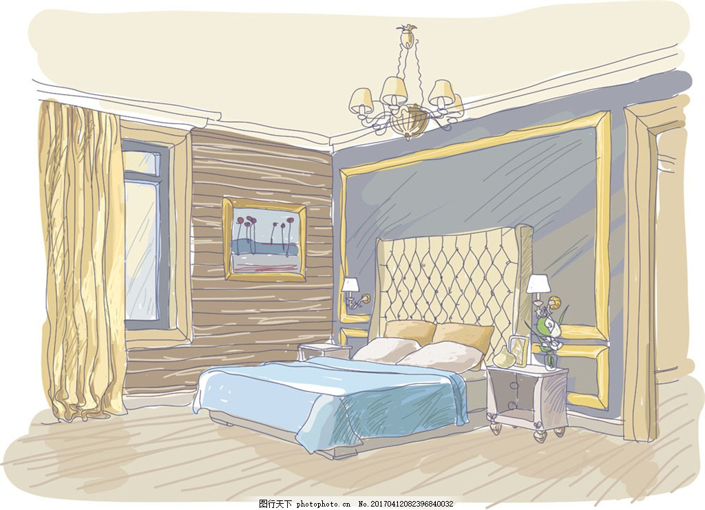 卡通卧室装潢设计 室内装修设计 室内装潢设计 卡通室内设计 卡通房间