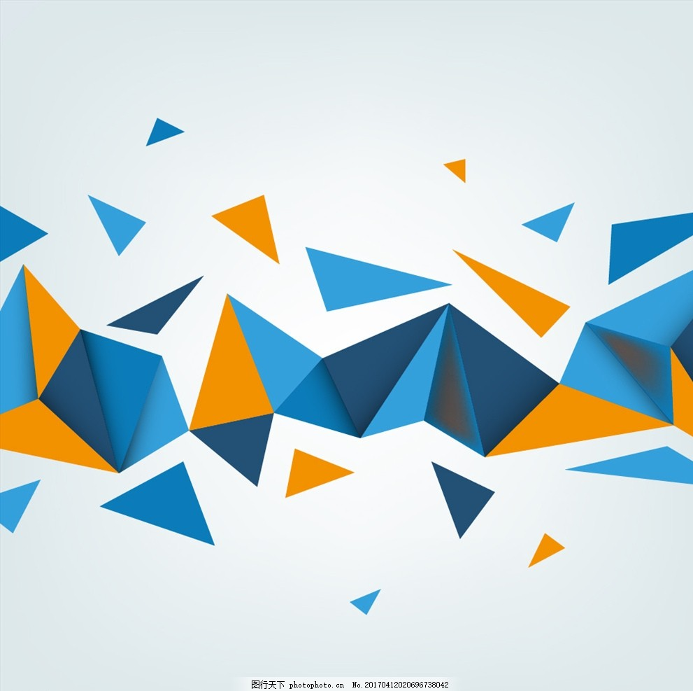 创意 三角形组合 横幅 折线 酷炫背景 设计 底纹边框 抽象底纹 eps